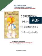 Guión Eucaristia primeras comuniones