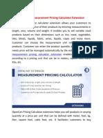 Opencart Measurement Price Calculator Extention