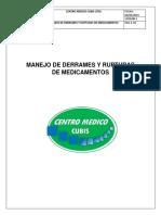 MANEJO DE DERRAMES Y RUPTURAS DE MEDICAMENTOS