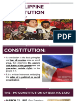 THE EVOLUTION OF PHILIPPINE CONSTITUTIONs
