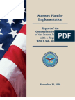 "DoD ""Don't Ask, Don't Tell"" Repeal Support Plan for Implementation, 30 November 2010"