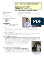 Mission Report Oct 2010