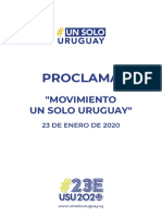 Proclama Un Solo Uruguay 23 enero 2020