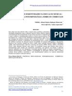 OBJETIVIDADES E SUBJETIVIDADES NA EDUCAÇÃO MUSICAL - UMA PERSPECTIVA FENOMENOLÓGICA SOBRE OS CURRÍCULOS