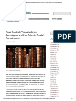 Ross Douthat- The Academic Apocalypse a...English Departments! | Tony's Thoughts