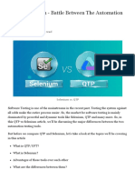 13 QTP vs Selenium - Battle Between The Automation Testing Giants
