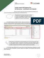 Manual de Usuario SAP Business One Proceso Salida de Mercancías – Identificación de Empleado