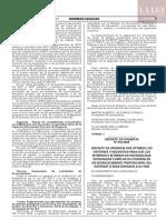Decreto de Urgencia N° 018-2020