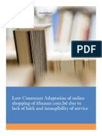 Low Consumer Adaption in Online Shopping
