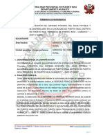 TDR PERITAJE SISTEMA DE AGUA POTABLE PTO INCA  Ultimo 17.06