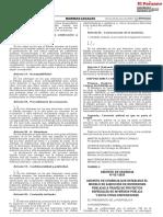 DECRETO DE URGENCIA N° 021-2020