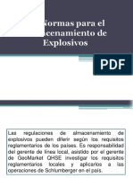 Presentación Almacenamiento de Explosivos
