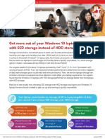 Get more out of your Windows 10 laptop experience with SSD storage instead of HDD storage