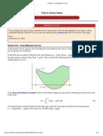 Calculus I - Area Between Curvesnotes