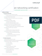 Cumulus Certification Blueprint 03.1