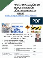 MODULO  LIQUIDACION DE OBRAS PUBLICAS