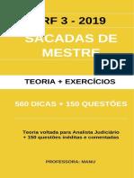 560  DICAS + 150 questões - ANALISTA JUDICIÁRIO - TRF 3