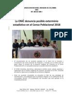 COMUNICADO ONIC CENSO 2018
