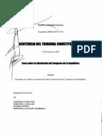 SENTENCIA DEL TC SOBRE DISOLUCIÓN DEL CONGRESO