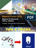 MapInfo PRO - Tips & Tricks Forum 2014