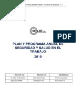 PLAN ANUAL SEGURIDAD Y SALUD EN EL TRABAJO SOFAMO 2019