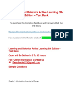 Learning and Behavior Active Learning 6th Edition – Test Bank