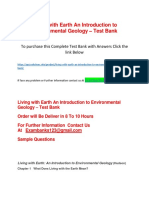 Living With Earth an Introduction to Environmental Geology – Test Bank