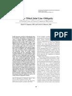Varus tibial joint line obliquity