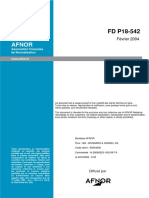 FD P18 542 Granulats Alcali-réaction