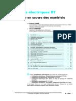 NF C 04-200 - Installations électriques BT - Choix et mise en oeuvre des matériels