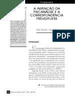 A INVENÇÃO DA PSICANÁLISE E A CORRESPONDÊNCIA FREUD.FLIESS