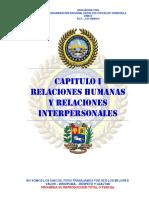 CAPÍTULO 1 RELACIONES HUMANAS Y RELACIONES INTERPERSONALES