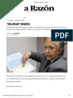 """""""DELIRIUM"""" MINERO _ La Razón"""