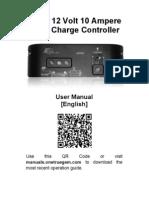 12 Volt 10 Ampere Solar Charge Controller Manual