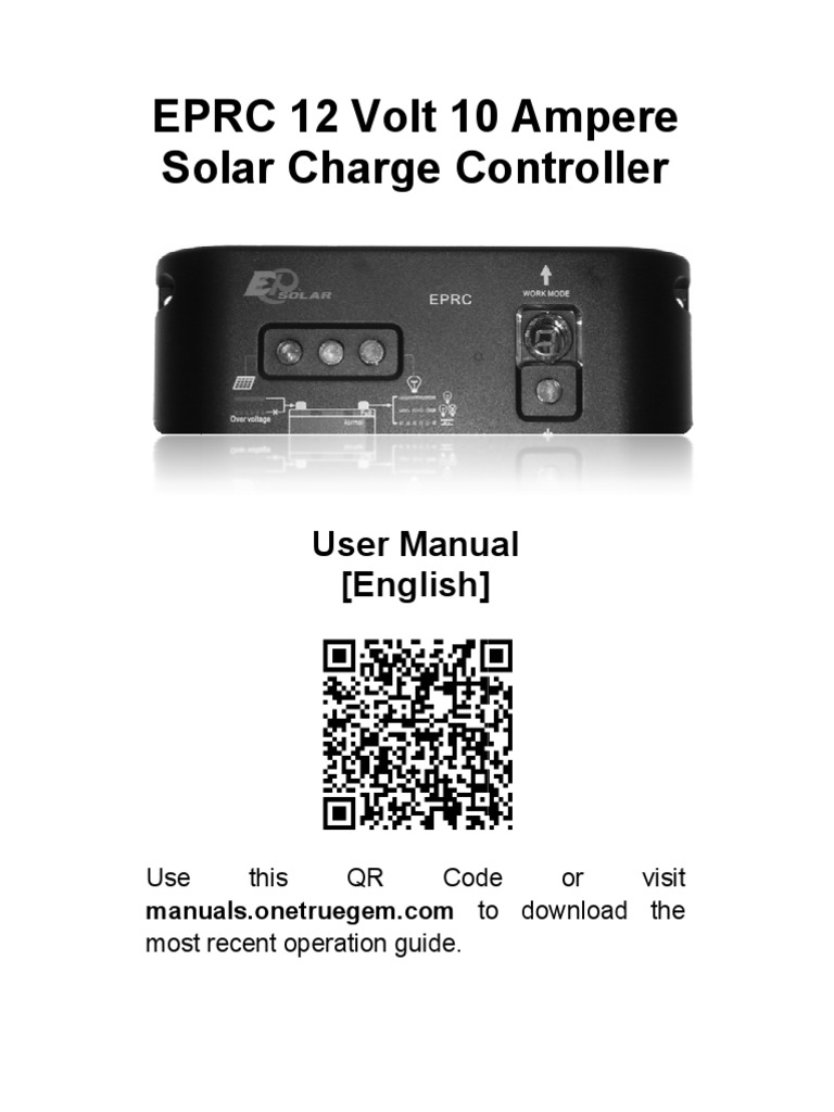 12 Volt 10 Ampere Solar Charge Controller Manual | Battery
