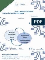 Evolução, benefícios e integração entre avaliação interna e externa