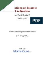 En Quotations on Islamic Civilization