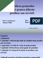 Stabilirea preturilor pietei pentru diferite produse sau servicii