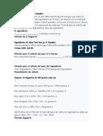 Formulación Del Pié Francés o Pate Fermentée