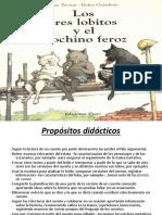 LOS TRES LOBITOS Y EL COCHINO FEROZ presentacion power point