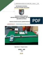 PRACTICA DE LABORATORIO N° 04 FISICA III FIC 2018. OLVG RESISTIVIDAD