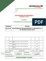 SI3-47-03 Mantenimiento de respiraderos atmosféricos y de presión planta vacío