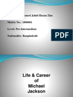 Presentation on Life & Career of Michael Jackson