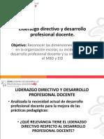Liderazgo Directivo y Desarrollo Profesional Docente