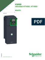 ATV630 650 Installation Manual SP EAV64307 09