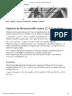 Innovación Financiera 2017 _ Hackaton _ Ganadores