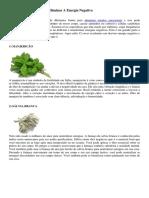 12 Ervas Ou Plantas Para Eliminar A Energia Negativa