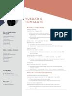 CV Yusdar S. Tomalate