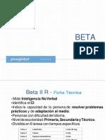 ficha tecnica beta