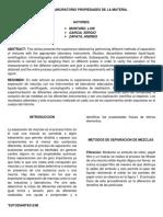 Informe Quimica. densidad